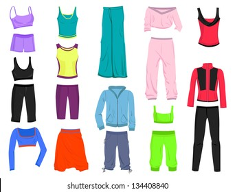 Set of women's clothing for yoga and fitness