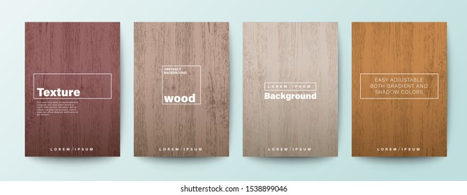 Set of wood texture background. Wooden background for Brochure, Flyer, Poster, leaflet, Annual report, Book cover, Banner, Presentation, Website, App, wallpaper.