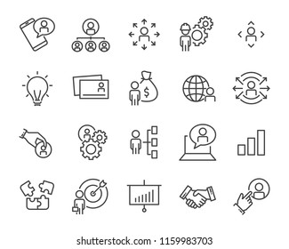 set of work icons, such as working, career, job, search, person, recruitment and more - Shutterstock ID 1159983703