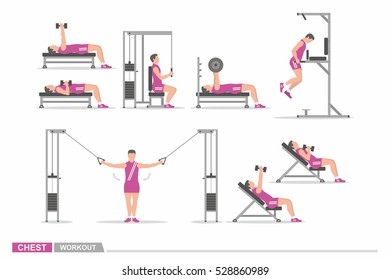 Set of workout for chest