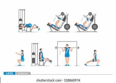 Leg Workout Images, Stock Photos & Vectors | Shutterstock
