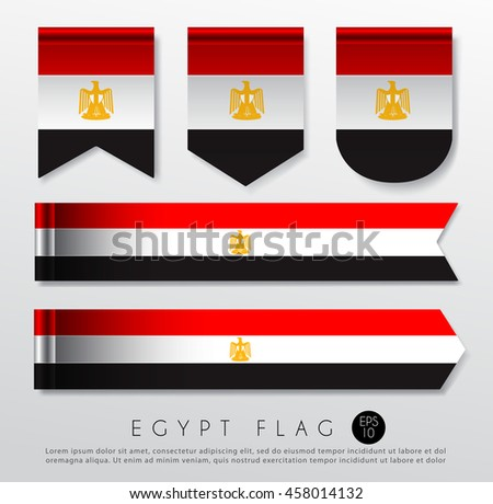 Set World Flag Ribbon Template Vector Stock Vector Royalty Free