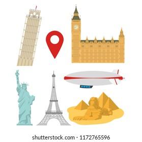Set of world monuments
