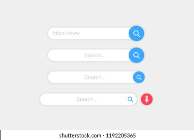 Set www search bar icons. Vector illustration isolated on white background. www search bar icon for web site, app, ui and logo. Concept search and www.