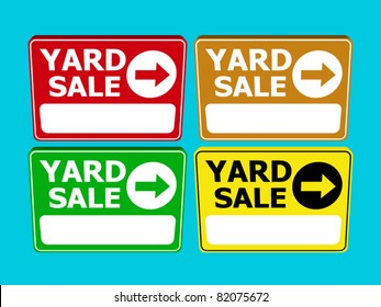 set of yard sale sign