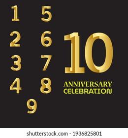 SET YEAR ANNIVERSARY CELEBRATION VECTOR DESIGN TEMPLATE ILLUSTRATION