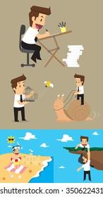 Set,Businessman Character. vector