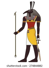 Seth , egyptian ancient symbol, isolated figure of ancient egypt deities