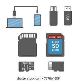Seth storage of digital information. Vector illustration