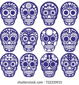 sets Holy Death, Day of the Dead, mexican sugar skull design t shirts