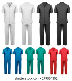 Sets of medical clothes. Vector.