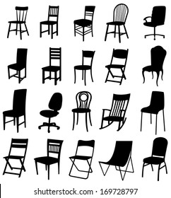 Sets of silhouette furniture 2, create by vector.