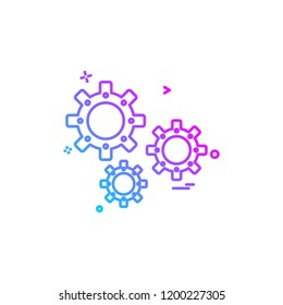 Setting Gear icon design vector