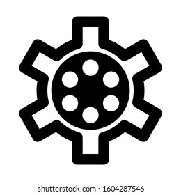 Setting Gear icon isolated sign symbol vector illustration - high quality black style vector icons