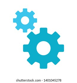 Setting gears vector icon. filled flat sign for mobile concept and web design. Cogwheel, configuration glyph icon. Symbol, gear mechanism symbol