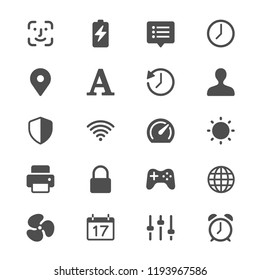 Setting glyph icons