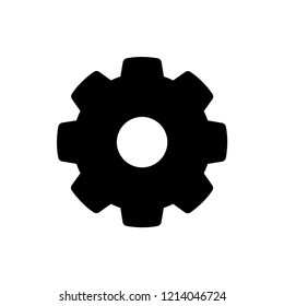 Setting Icon. Gear or Cog Vector on Glyph Style & White & White Background. EPS 10.
