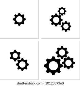 Setting Icon, Gear, User Preference Setting Vector Art Illustration