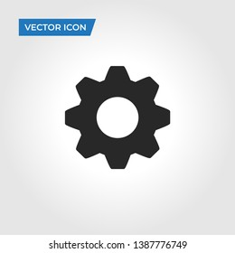 Setting icon isolated on white background. Setting icon in trendy design style. Setting vector icon modern and simple flat symbol for web site, mobile app, UI. Setting icon vector illustration, EPS10.