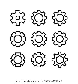 setting icon or logo isolated sign symbol vector illustration - Collection of high quality black style vector icons