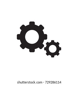 Setting Icon, Tools, Cog, Gear Sign. Vector. Illustration. Flat Design Style. Web site