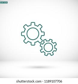 Setting icon vector