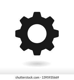 Setting icon vector, Cog sign