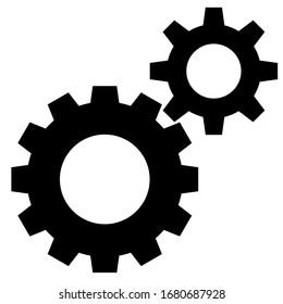 Setting icon vector design, gear symbol