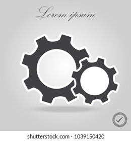 Setting icon vector, Tools, Cog, Gear Sign Isolated on white background. Help options account concept. Trendy Flat style for graphic design, logo, Web site, social media, UI, mobile app, EPS10.