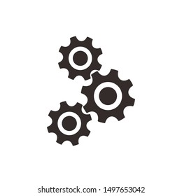 Setting icon vector, Tools, Cog, Gear Sign Isolated on white background. Trendy Flat style for graphic design, logo, Web site, social media, mobile app,