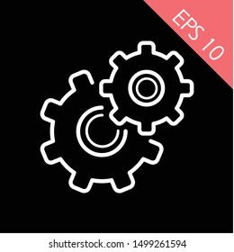 Setting icon vector, Tools, Cog, Gear Sign Isolated on white background. Help options account concept. Trendy Flat style, logo, Web site, social media, UI, mobile app, EPS10, Premium.
