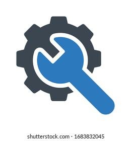 setting vector glyph color icon