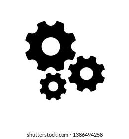 Settings Gears Icon, Gears Vector