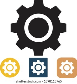 Settings icon with additional gear, vector illustration.