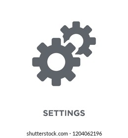 Settings icon. Settings design concept from  collection. Simple element vector illustration on white background.