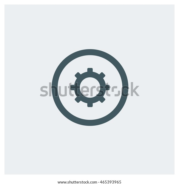 Settings Icon Gear Icon Flat Web Stock Vector (Royalty Free