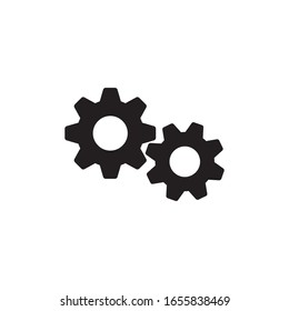 Settings icon, gears mechanism pictogram