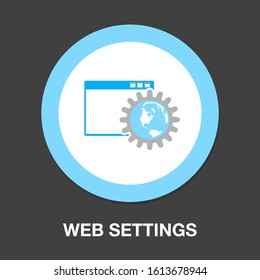 settings icon, gears set, computer configuration icons, account settings, help icon