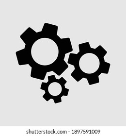 settings icon isolated vector illustration