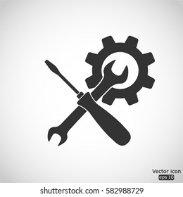 Settings icon - vector  illustration