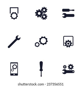 settings, preferences flat icons vector illustration, eps10, easy to edit