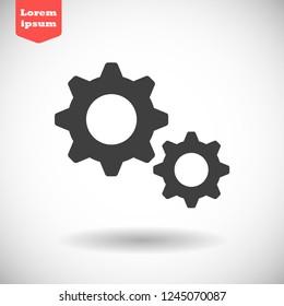 settings vector icon 10 eps