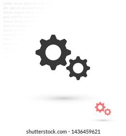 settings vector icon 10 eps , Lorem ipsum Flat design