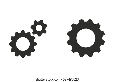 Settings vector icon. Black illustration isolated on white background for graphic and web design.