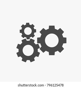 Settings vector icon for industrial and websites