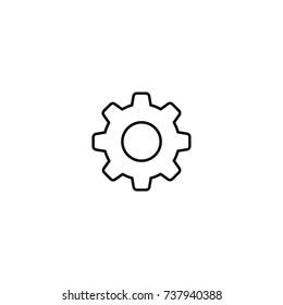 Settings vector icon line symbol