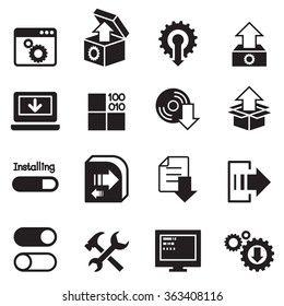 Setup , configuration, maintenance & Installation icon