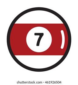 seven billiard ball