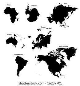 The Seven Continents of the World