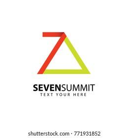 Seven Summit Logo Vector Template Design